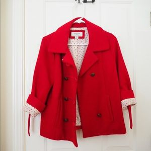 Heritage by Forever 21 Red Peacoat